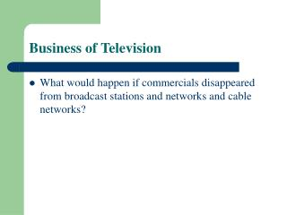 Business of Television