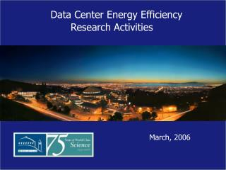 Data Center Research Activities