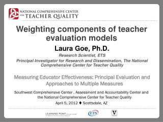 Weighting components of teacher evaluation models