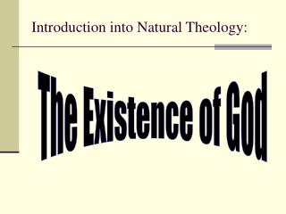Introduction into Natural Theology: