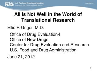 All Is Not Well in the World of Translational Research