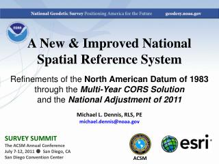 A New & Improved National Spatial Reference System
