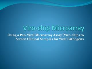 Viro -chip Microarray
