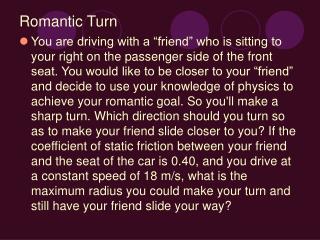 Romantic Turn