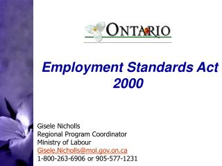 Employment Standards Act 2000