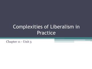 Complexities of Liberalism in Practice