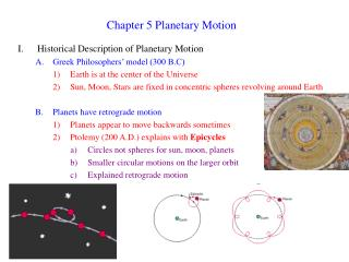 Chapter 5 Planetary Motion