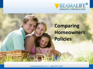 Comparing Homeowners Policies