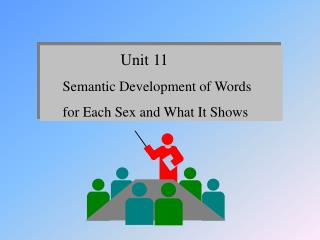 Unit 11     Semantic Development of Words      for Each Sex and What It Shows