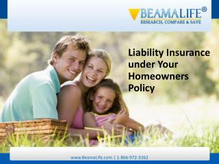 Liability Insurance under Your Homeowners Policy