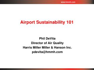 Airport Sustainability 101