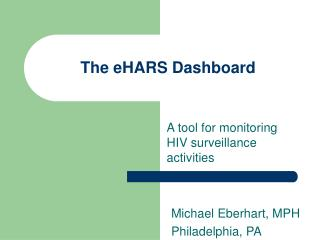 The eHARS Dashboard