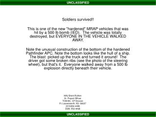 Soldiers survived!!
