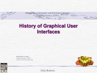 History of Graphical User Interfaces