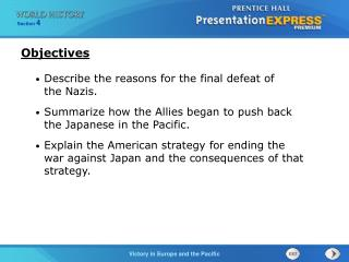 Describe the reasons for the final defeat of  the Nazis.