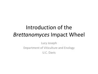 Introduction of the  Brettanomyces  Impact Wheel