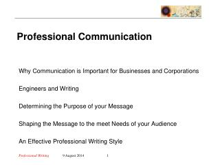 Why Communication is Important for Businesses and Corporations Engineers and Writing
