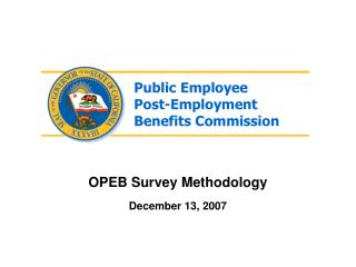 OPEB Survey Methodology December 13, 2007