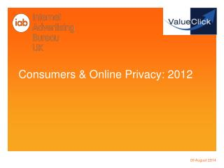 Consumers & Online Privacy: 2012