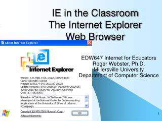 IE in the Classroom  The Internet Explorer Web Browser