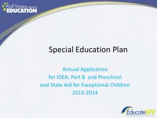 Special Education Plan