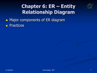 Chapter 6: ER – Entity Relationship Diagram