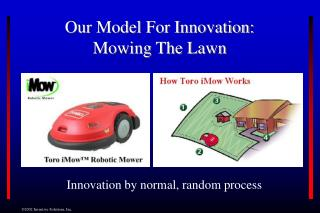 Our Model For Innovation: Mowing The Lawn