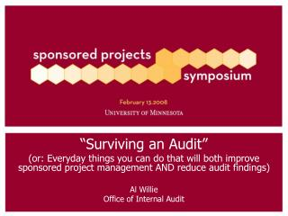 """Surviving an Audit"""