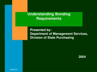 Understanding Bonding Requirements
