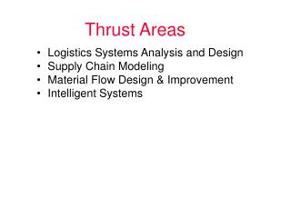 Thrust Areas