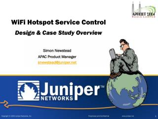 WiFi Hotspot Service Control Design & Case Study Overview