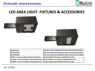 LED Area Light- Fixtures & Accessories
