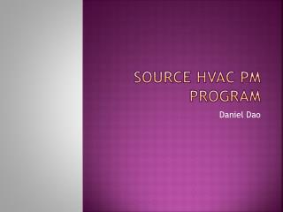 Source HVAC PM Program