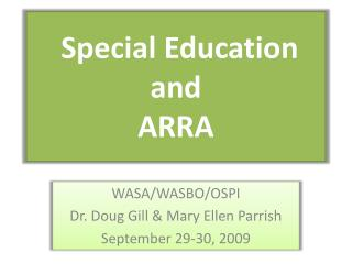 Special Education and ARRA