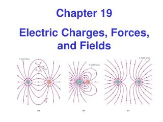 Chapter 19 Electric Charges, Forces, and Fields