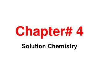 Chapter# 4