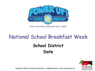 National School Breakfast Week