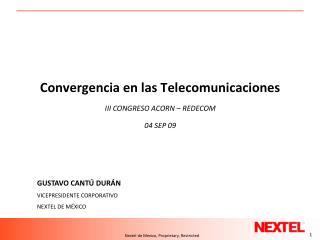 Convergencia en las Telecomunicaciones