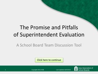 The Promise and Pitfalls of Superintendent Evaluation