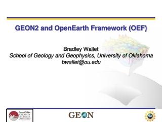 GEON2 and OpenEarth Framework (OEF)