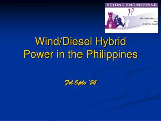 Wind/Diesel Hybrid  Power in the Philippines