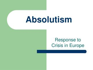 Absolutism