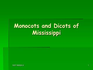 Monocots and Dicots of Mississippi
