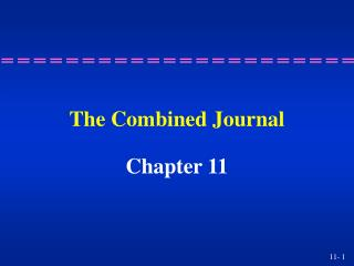 The Combined Journal