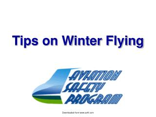 Tips on Winter Flying