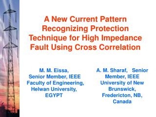 A. M. Sharaf,   Senior Member, IEEE University of New Brunswick, Fredericton, NB, Canada