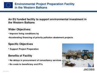 Environmental Project Preparation Facility in the Western Balkans