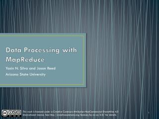Data Processing with MapReduce