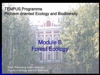 TEMPUS Programme Problem oriented Ecology and Biodiversity