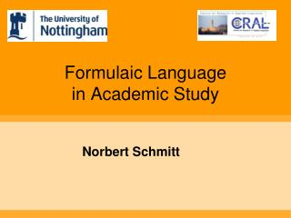 Formulaic Language  in Academic Study